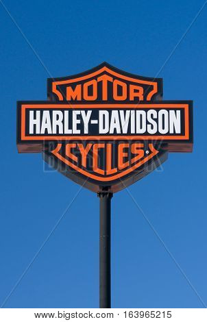 Harley-davidson Motorcyle Sign And Logo
