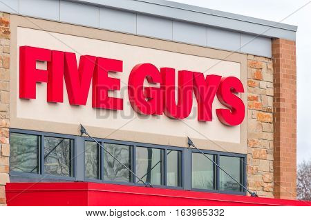 Five Guys Resturant Exterior And Logo