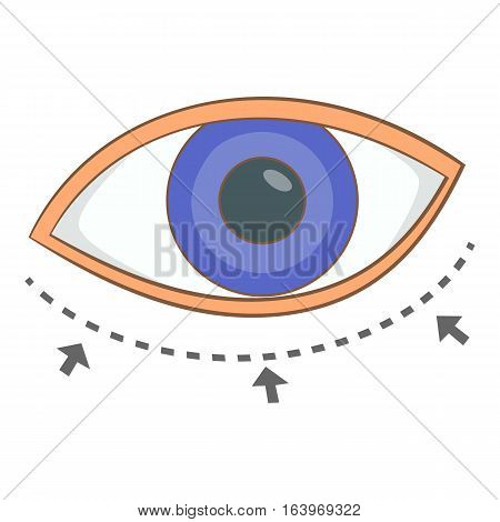 Eye surgery correction icon. Cartoon illustration of body surgery correction vector icon for web design