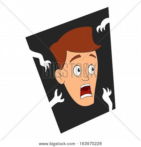Fear of the dark icon. Cartoon illustration of fear of the dark vector icon for web design
