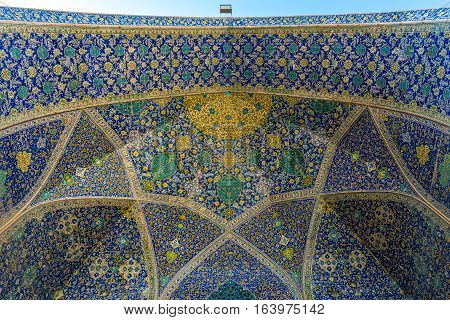 Shah Mosque also called Imam mosque in Isfahan city Iran