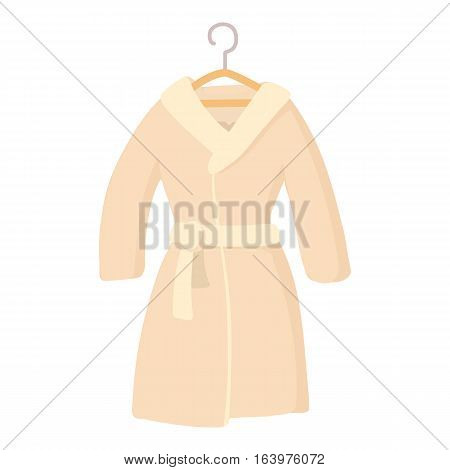 Bathrobe icon. Cartoon illustration of bathrobe vector icon for web