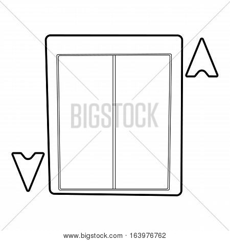 Lift icon. Outline illustration of lift vector icon for web