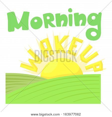 Morning wakeup icon. Cartoon illustration of morning wakeup vector icon for web