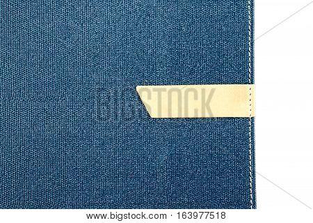 Logo placement organizer book on white background