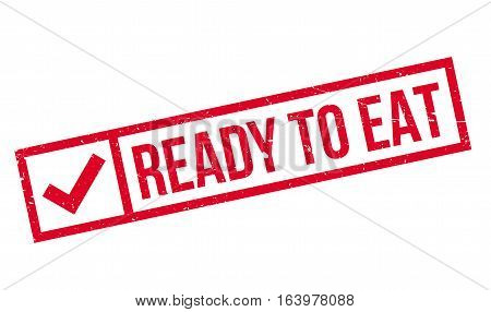 Ready To Eat rubber stamp. Grunge design with dust scratches. Effects can be easily removed for a clean, crisp look. Color is easily changed.