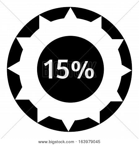 Fifteen percent download internet icon. Simple illustration of fifteen percent download internet vector icon for web