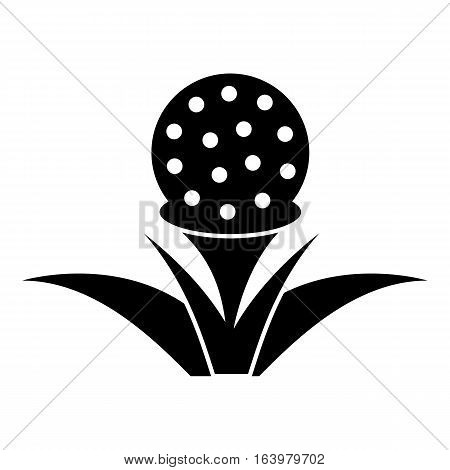 Stand for golf ball icon. Simple illustration of stand for golf ball vector icon for web