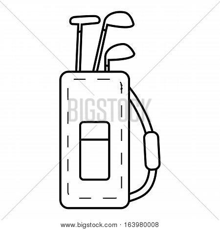 Bag for golf clubs icon. Outline illustration of bag for golf clubs vector icon for web