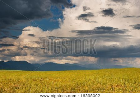 Landscape with storm clouds