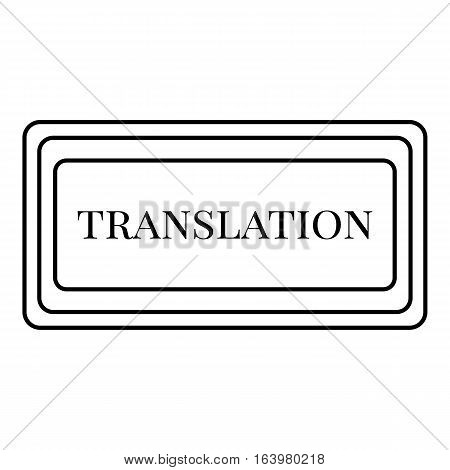 Translation button icon. Outline illustration of translation button vector icon for web