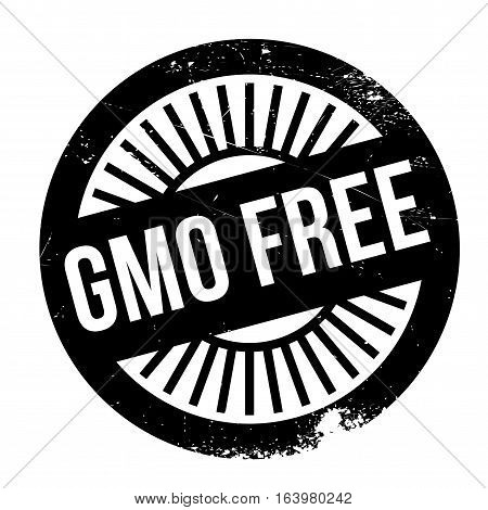 Gmo free stamp. Grunge design with dust scratches. Effects can be easily removed for a clean, crisp look. Color is easily changed.
