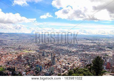 Bogota desde las alturas. Panoramic of Bogota, Colombia