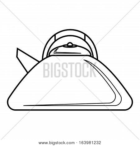 Heating kettle icon. Outline illustration of heating kettle vector icon for web