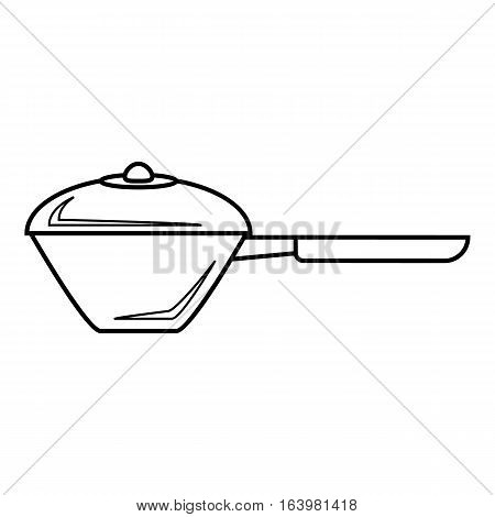 Saucepan icon. Outline illustration of saucepan vector icon for web