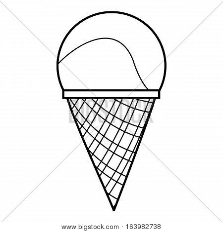 Cone icon. Outline illustration of cone vector icon for web