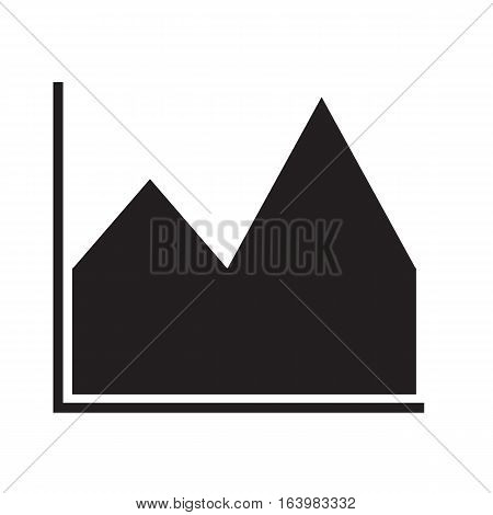 chart icon on white background. chart icon sign.