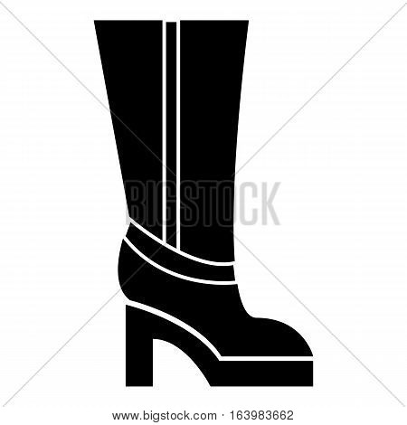 Women boots high heel icon. Simple illustration of women boots high heel vector icon for web