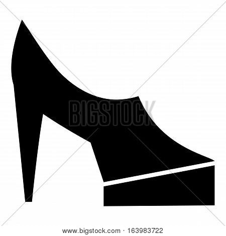 Women shoes on platform icon. Simple illustration of women shoes on platform vector icon for web