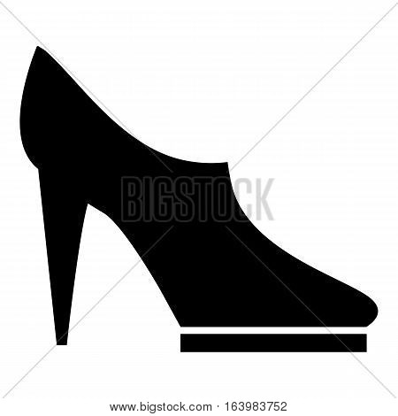 Women high heeled shoes icon. Simple illustration of women high heeled shoes vector icon for web