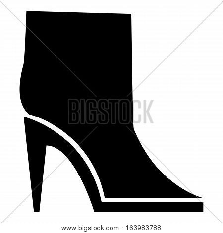 Ankle boots icon. Simple illustration of ankle boots vector icon for web