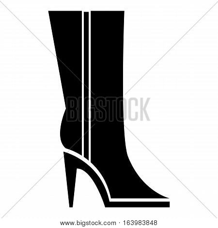 Women winter boots icon. Simple illustration of women winter boots vector icon for web