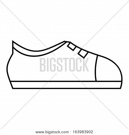 Sport sneakers icon. Outline illustration of sport sneakers vector icon for web