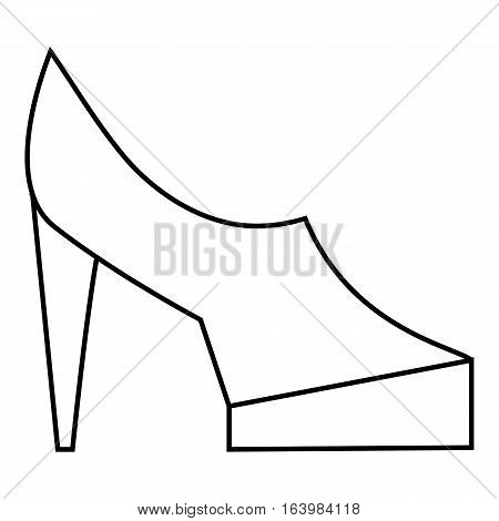 Women shoes on platform icon. Outline illustration of women shoes on platform vector icon for web