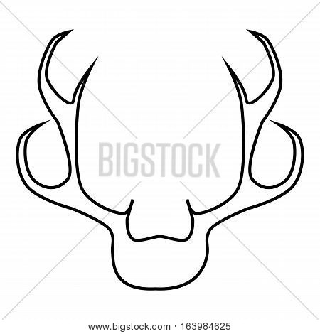 Deer antler icon. Outline illustration of deer antler vector icon for web