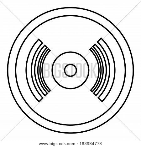 Vinyl record icon. Outline illustration of vinyl record vector icon for web