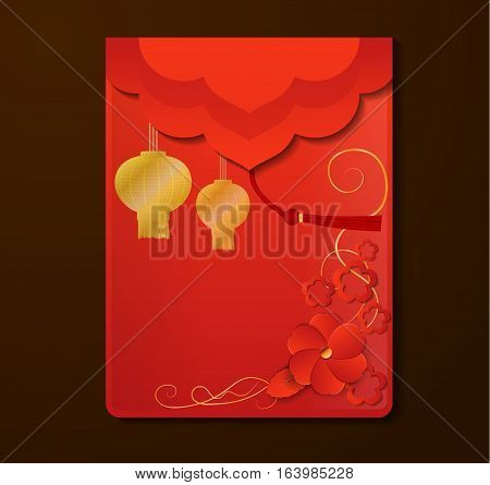 Red Envelope The Chinese with free space for your desighn