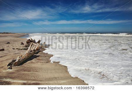 Ship remains, Skeleton Coast, Namibia