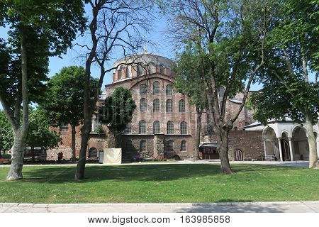 Hagia Irene is a former Eastern Orthodox Church in Topkapi Palace Complex, in Istanbul, Turkey