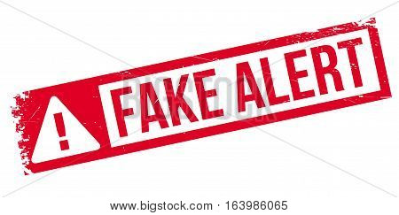 Fake Alert rubber stamp. Grunge design with dust scratches. Effects can be easily removed for a clean, crisp look. Color is easily changed.