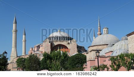 1.500 Years old Hagia Sophia Museum Cathedral - Mosque in Istanbul, Turkey