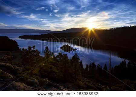 Emerald Bay, Lake Tahoe, California At Sunrise.