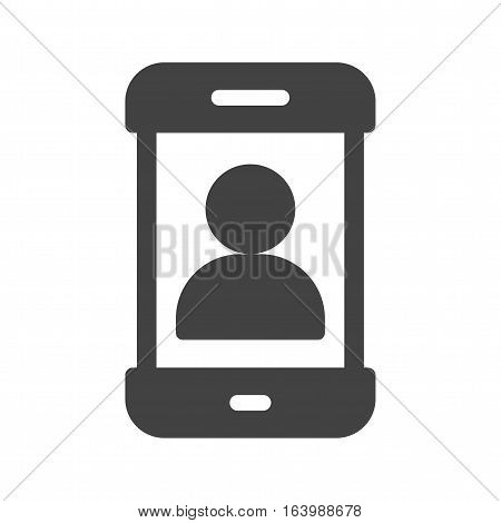 Mobile, account, user icon vector image. Can also be used for smartphone. Suitable for mobile apps, web apps and print media.