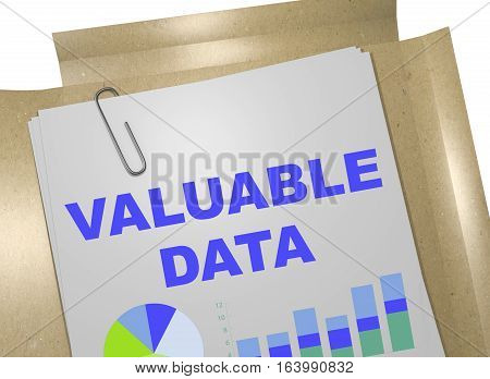 Valuable Data - Business Concept