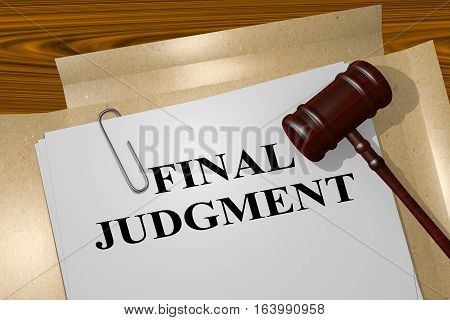 Final Judgment - Legal Concept