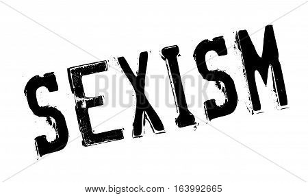 Sexism rubber stamp. Grunge design with dust scratches. Effects can be easily removed for a clean, crisp look. Color is easily changed.
