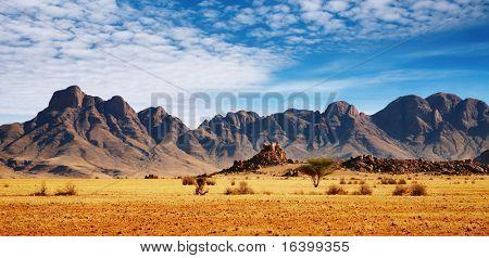 Felsen der Namib-Wüste, Namibia