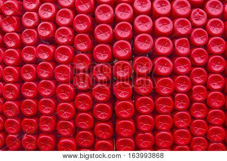 Stack Of Bottom Plastic Bottles Texture For Background