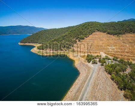 Aerial View Of Dartmouth Dam, Australia