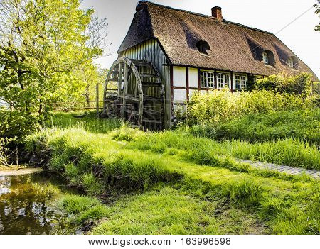 The old Danish watermill. Shot in Denmark