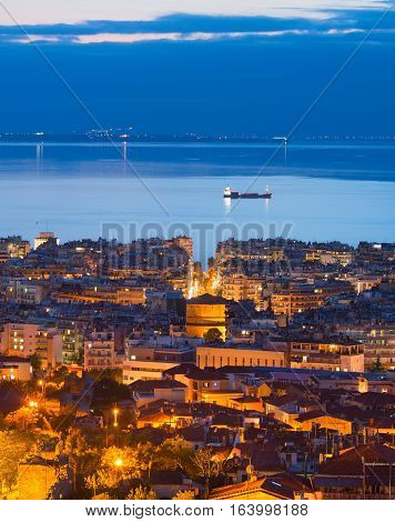Thessaloniki At Twilight, Greece