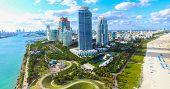 South Beach, Miami Beach. Florida. Atlantic Ocean poster