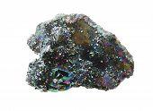 titan aura quartz semigem geode crystals geological mineral isolated poster
