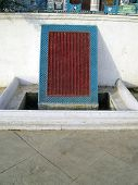 Water drain at the historic chota imambada of lucknow. poster