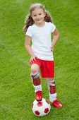 Cute soccer player poster
