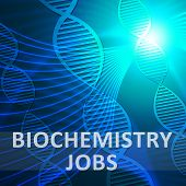 Biochemistry Jobs Helix Meaning Biotech Profession 3d Illustration poster